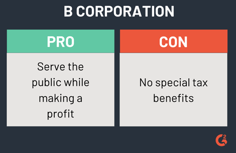 pros and cons of a b corporation
