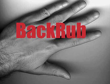 backrub logo design