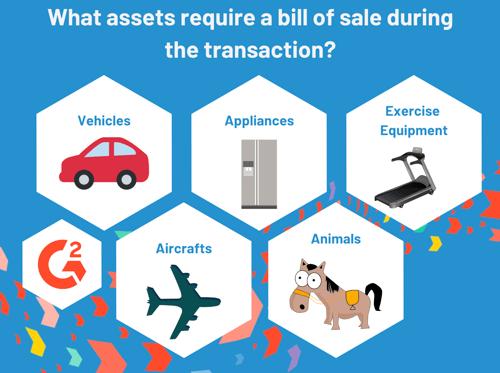 bill of sale items