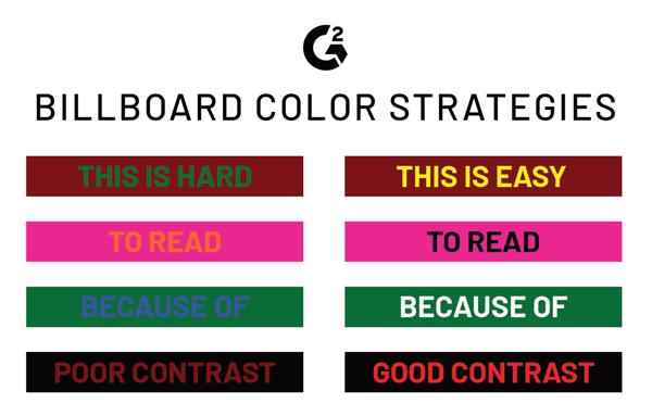billboard design color contrast