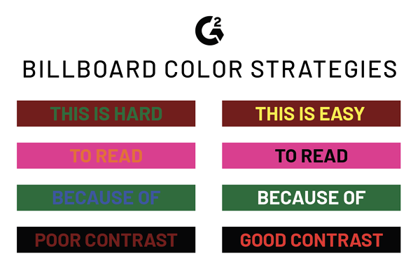 billboard design color contrast