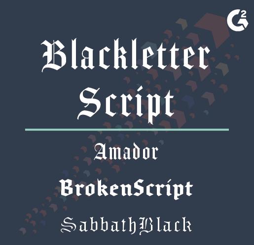 blackletter script examples