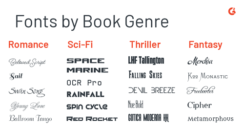 book cover design fonts