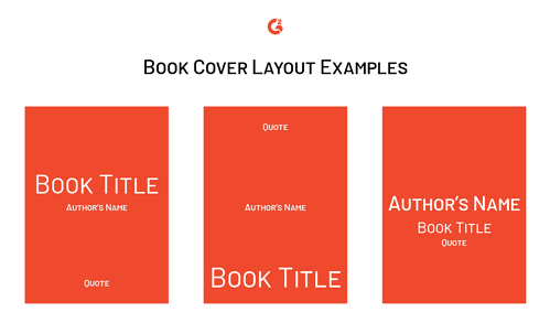 book cover design layout examples
