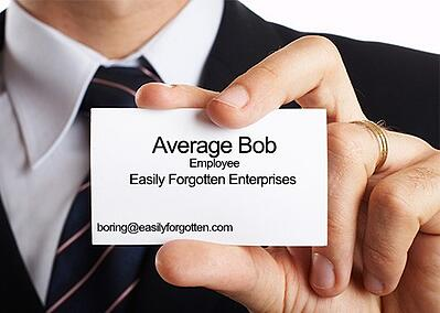 boring business card example