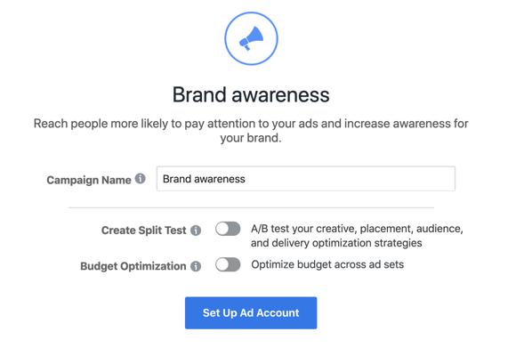 screenshot of the brand awareness section