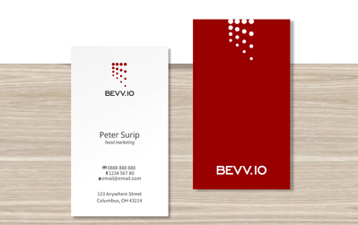 business card logo placement