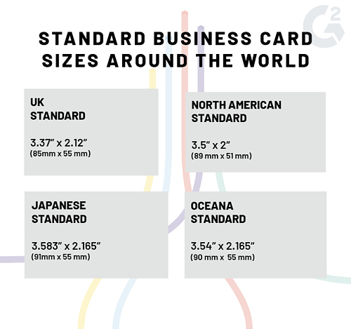 business card standard size