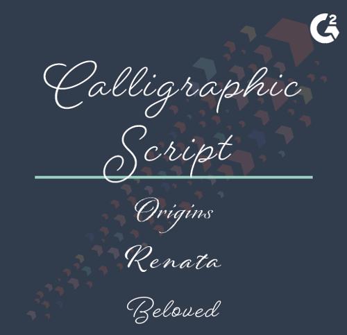 calligraphic script examples