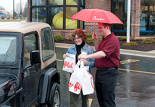 Chick-fil-A umbrella