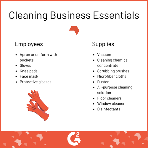 cleaning business essentials