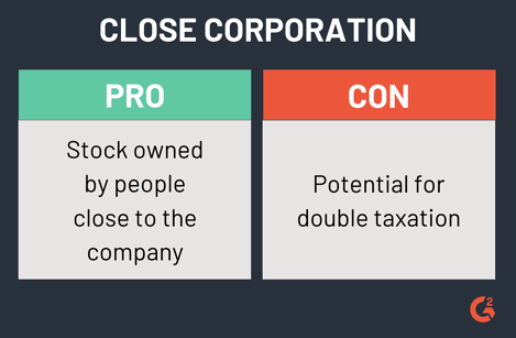 pros and cons of a close corporation