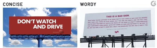 concise billboard design
