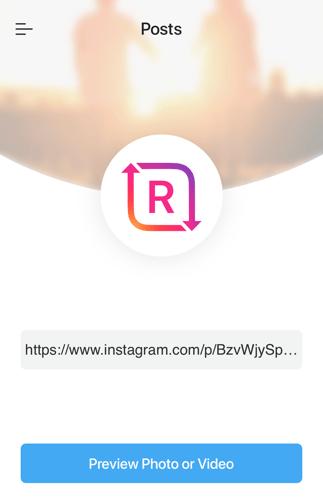 copy instagram link to regrammer