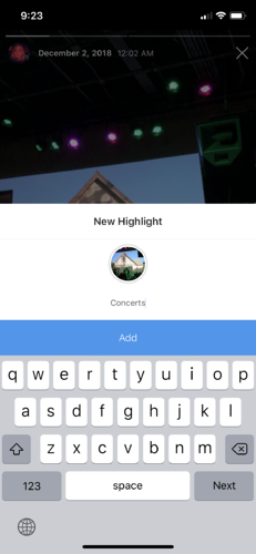 create a highlight on instagram