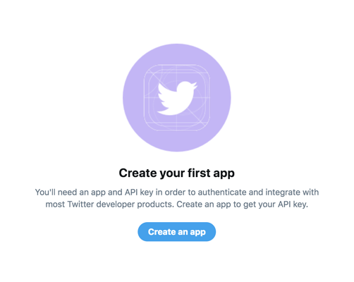 create an App on Twitter