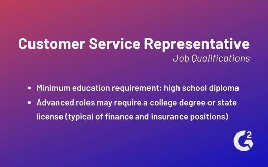 customer service representation qualifications