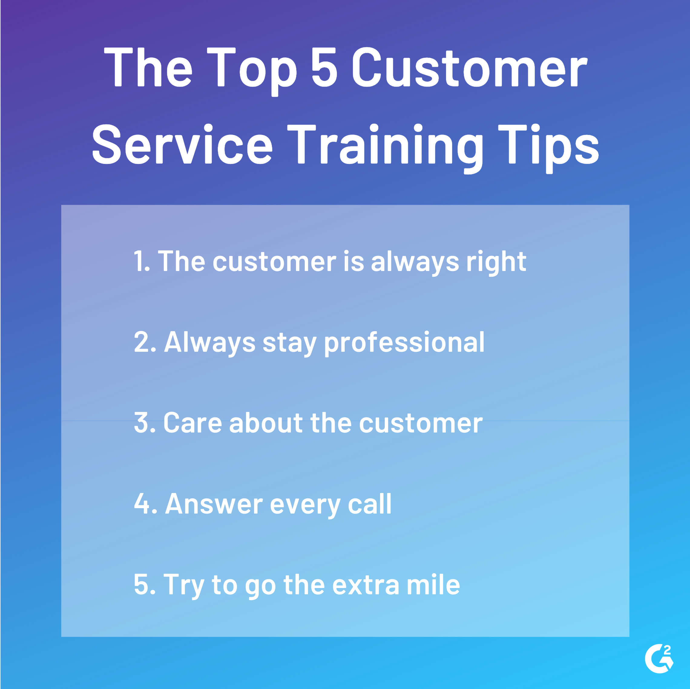 customer service training tips