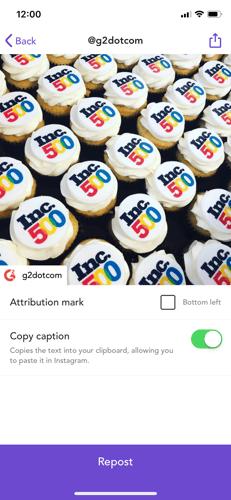 customize instagram post in repost