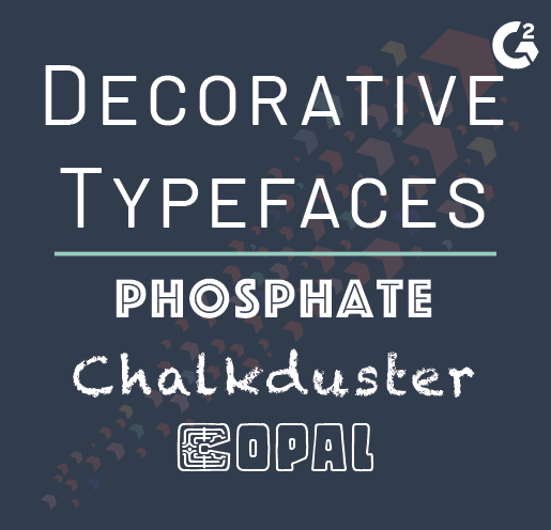 decorative typeface examples