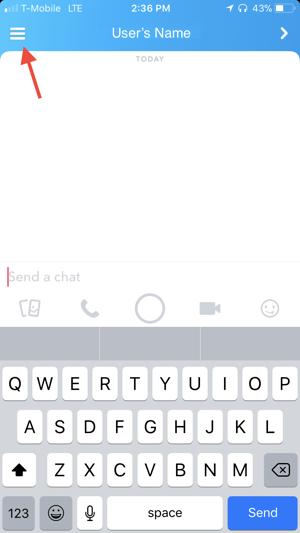 delete or block Snapchat friend