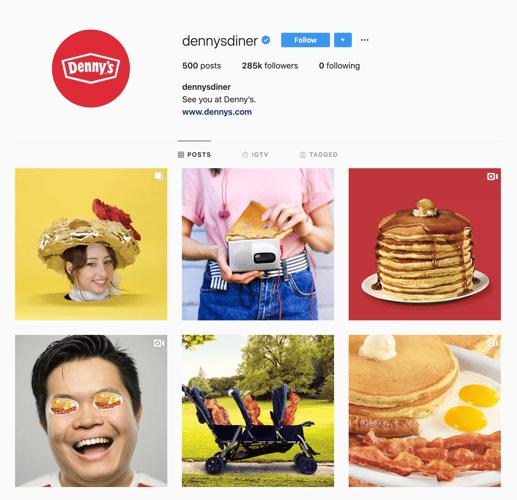 dennys instagram