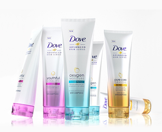 dove consistent packaging design