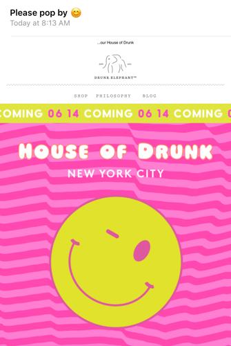 drunk elephant email invitation