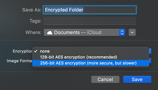 encryption methods on mac