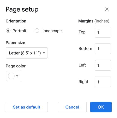 enter margin size
