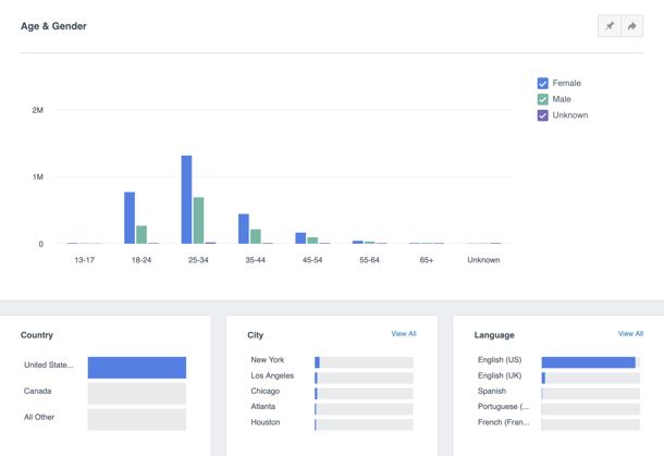 facebook analytics demographics