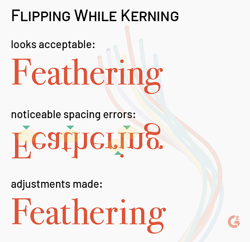 flipping in kerning