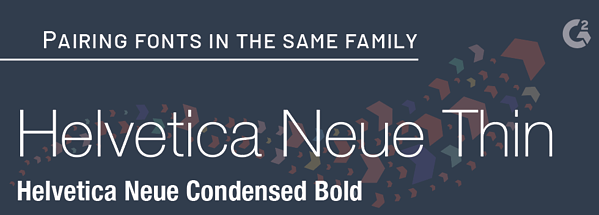 font pairing in families