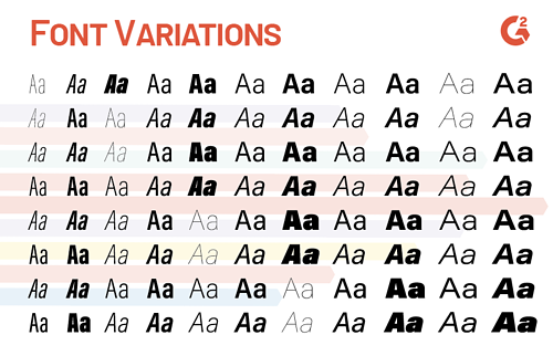 font variations