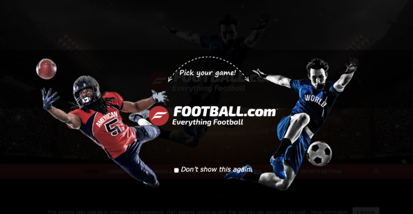 football.com splash page