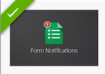 form notifications add on app