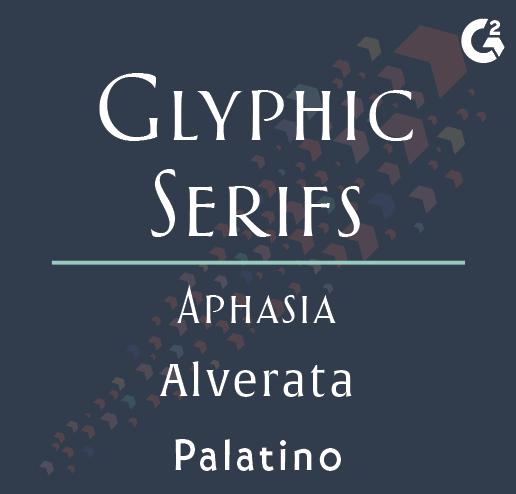 glyphic serif examples