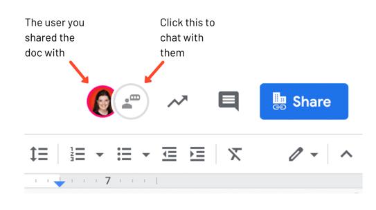 google doc user icons