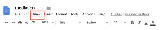 google docs view