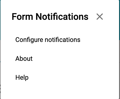 configure google forms notifications