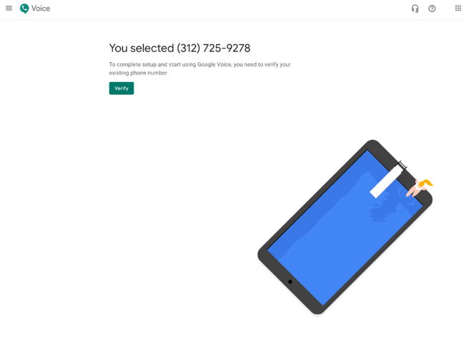 Verify your google voice number