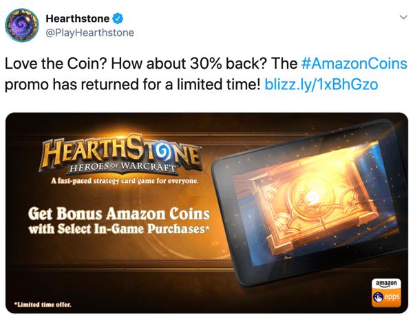 Hearthstone Amazon Coins