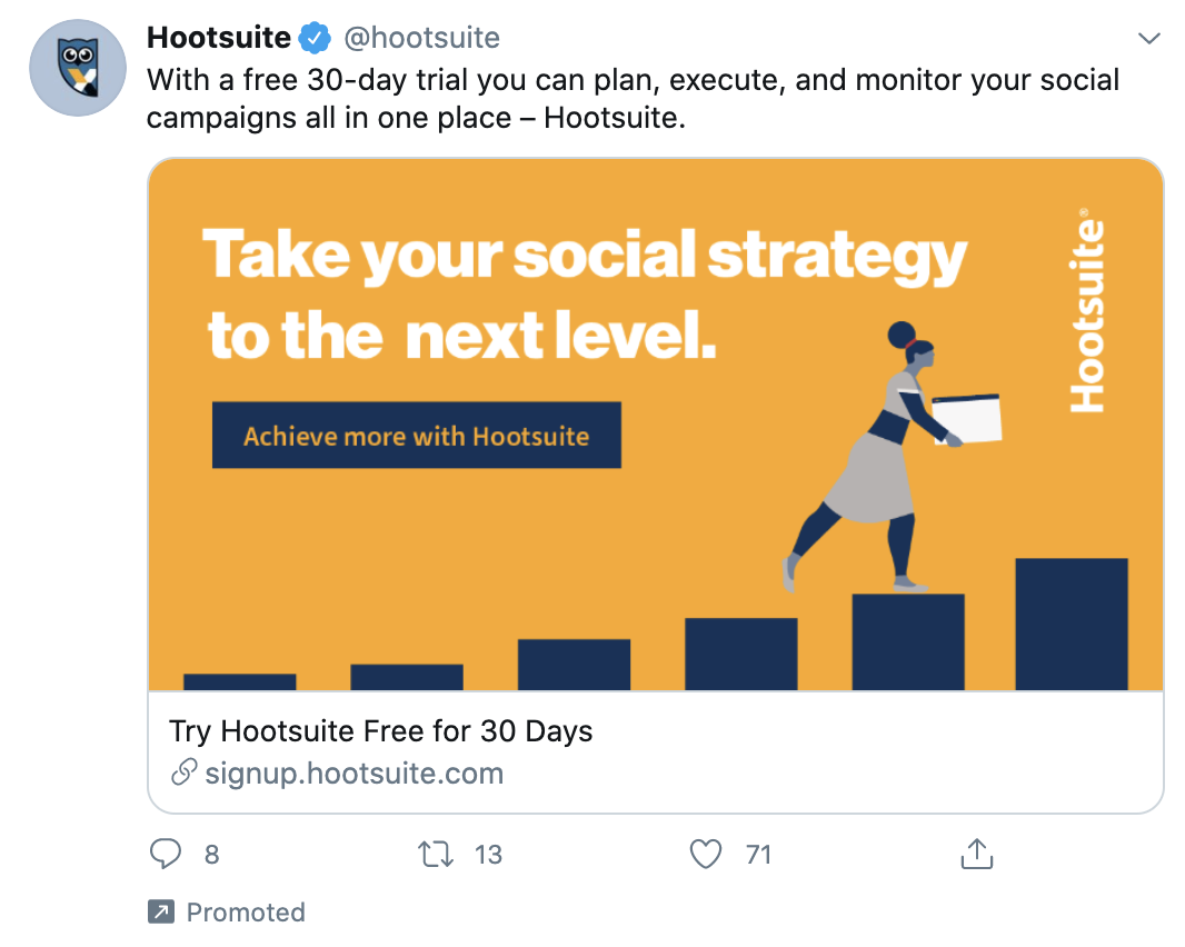 example of b2b twitter ad