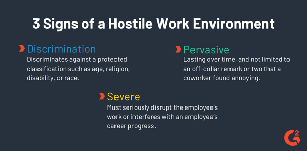 signs of a hostile work environment