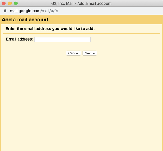 how to add a new mail account in gmail