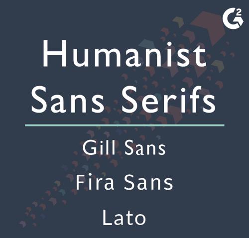 humanist sans serif examples