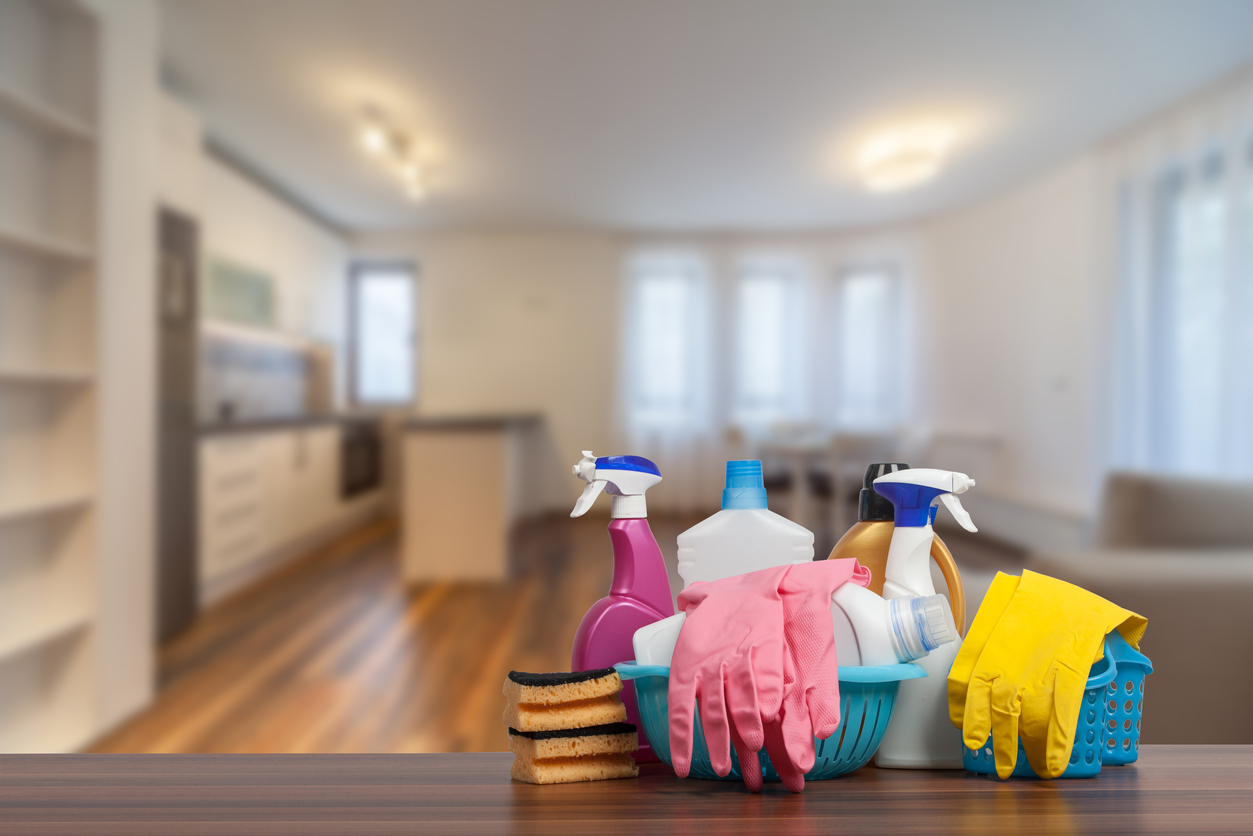 cleaning supplies first apartment