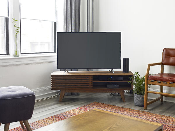 tv first apartment