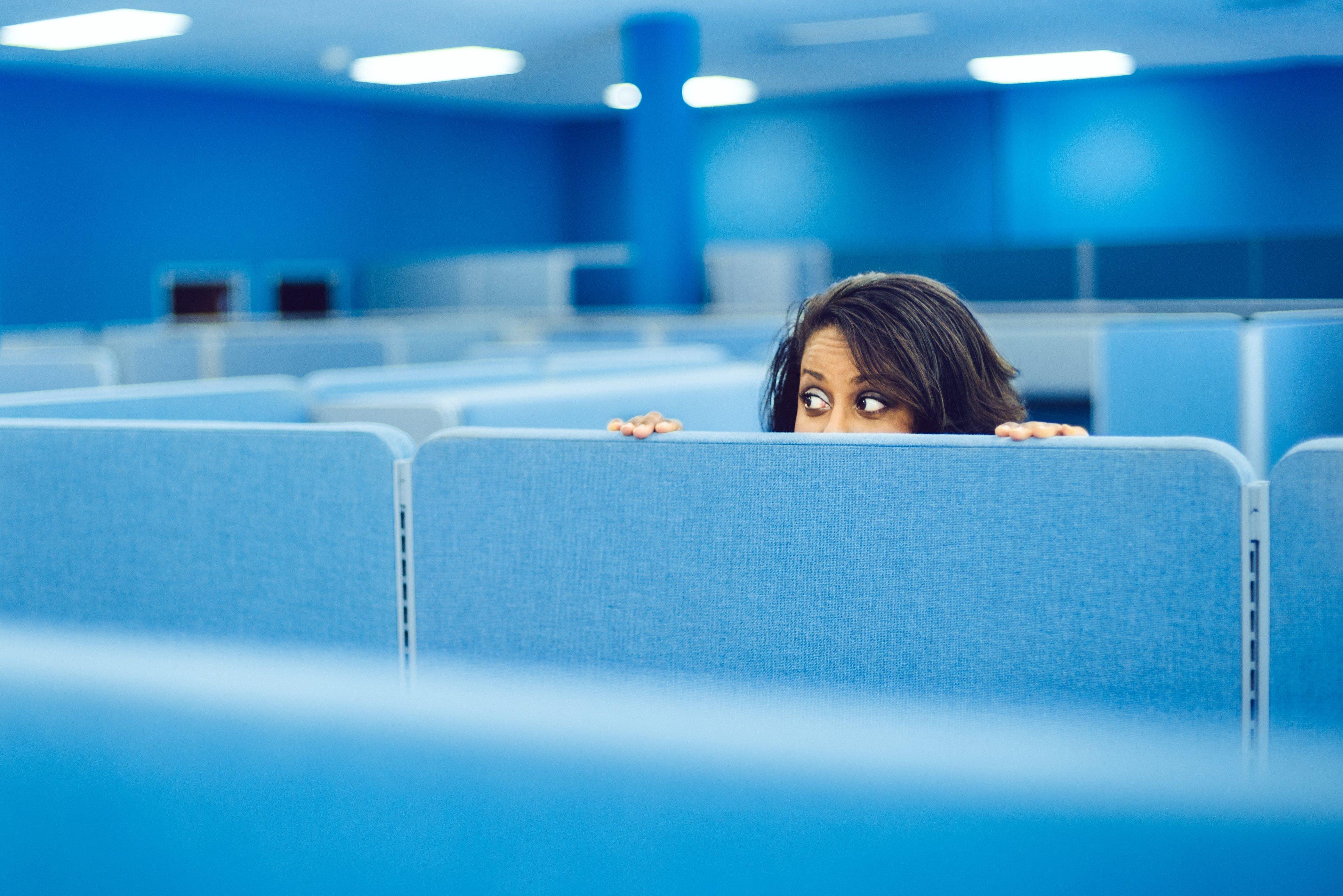 employee hiding