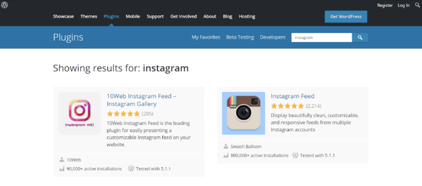 instagram wordpress plugin